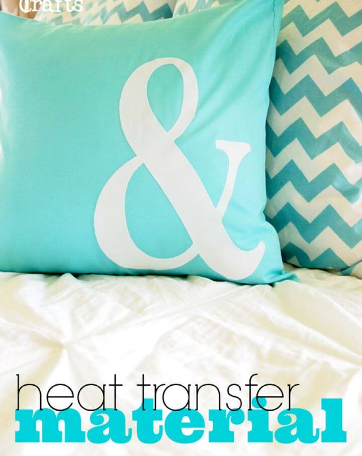DIY Pillow With Silhouette Heat Transfer Material