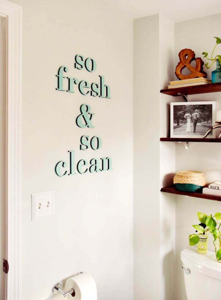 DIY Quote Wall Art With Letter
