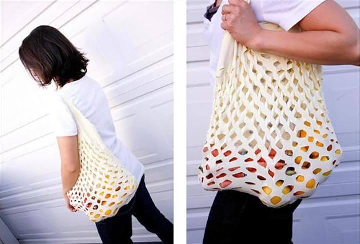 shopping bag, DIY Reusable Shopping Bag