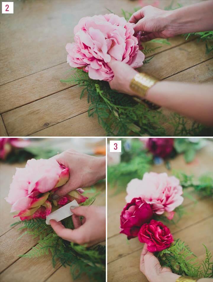 AFloral DIY, DIY Silk Flower Wreath
