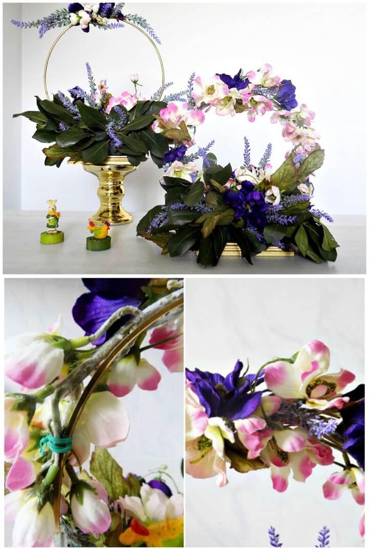 DIY Spring Table Decor With Wreaths