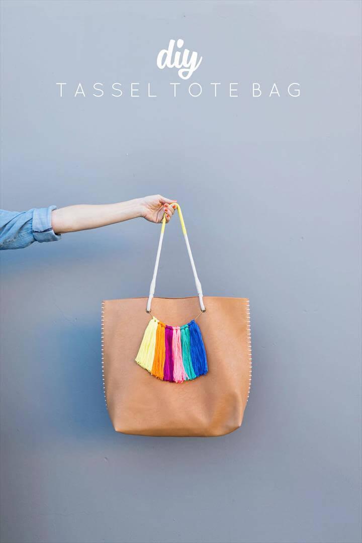 DIY TASSEL TOTE BAG