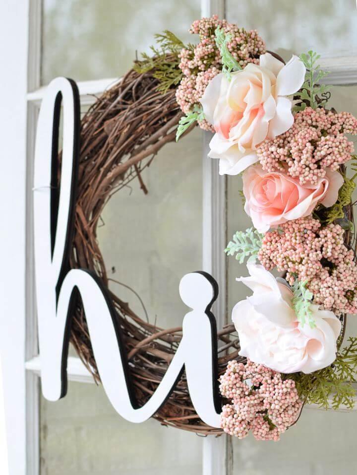DIY Summer Wreath for Your Front Door