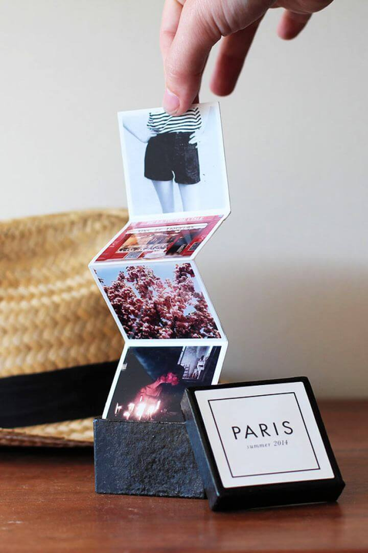 DIY Tiny Travel Album In A Box For Him