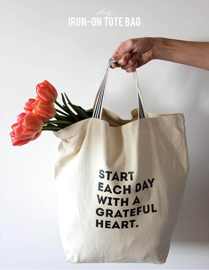DIY Iron-on Tote Bag