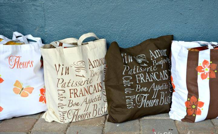 Reuseable Washable DIY Grocery Bags