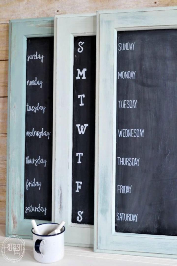DIY Weekly Menu Chalkboard Tutorial