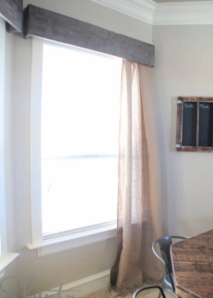 DIY Window Wood Cornices For Living Room