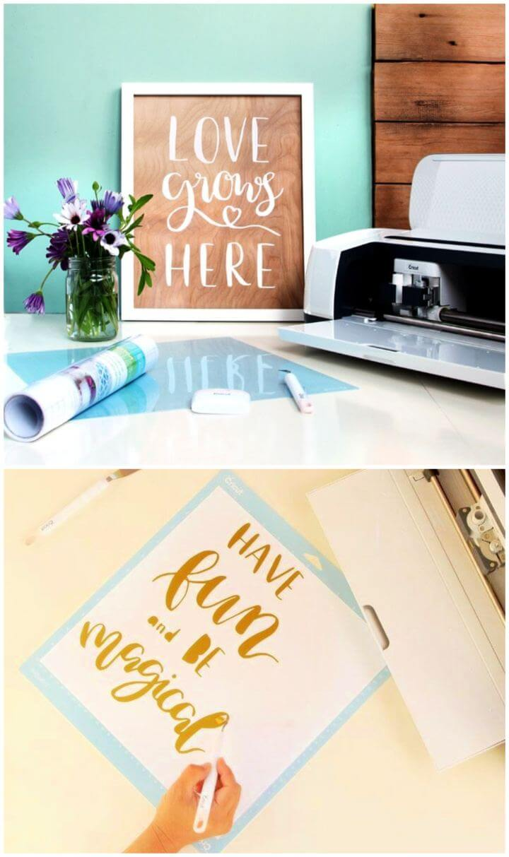 DIY Wood Wall Art With Hand Lettered Quotes,