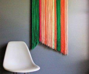 DIY Yarn Wall Art Hanging