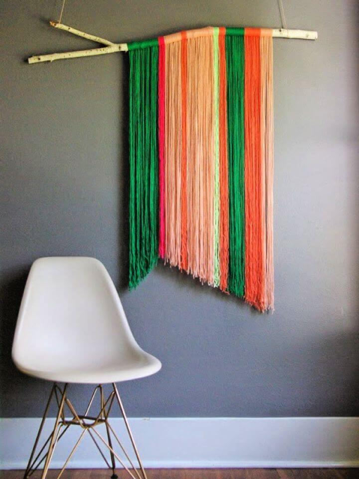 DIY Yarn Wall Art Hanging