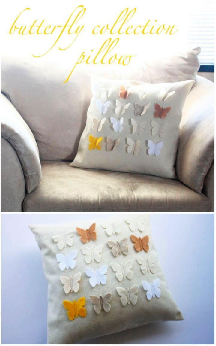 DIY Butterfly Collection Pillow For Home Tutorial