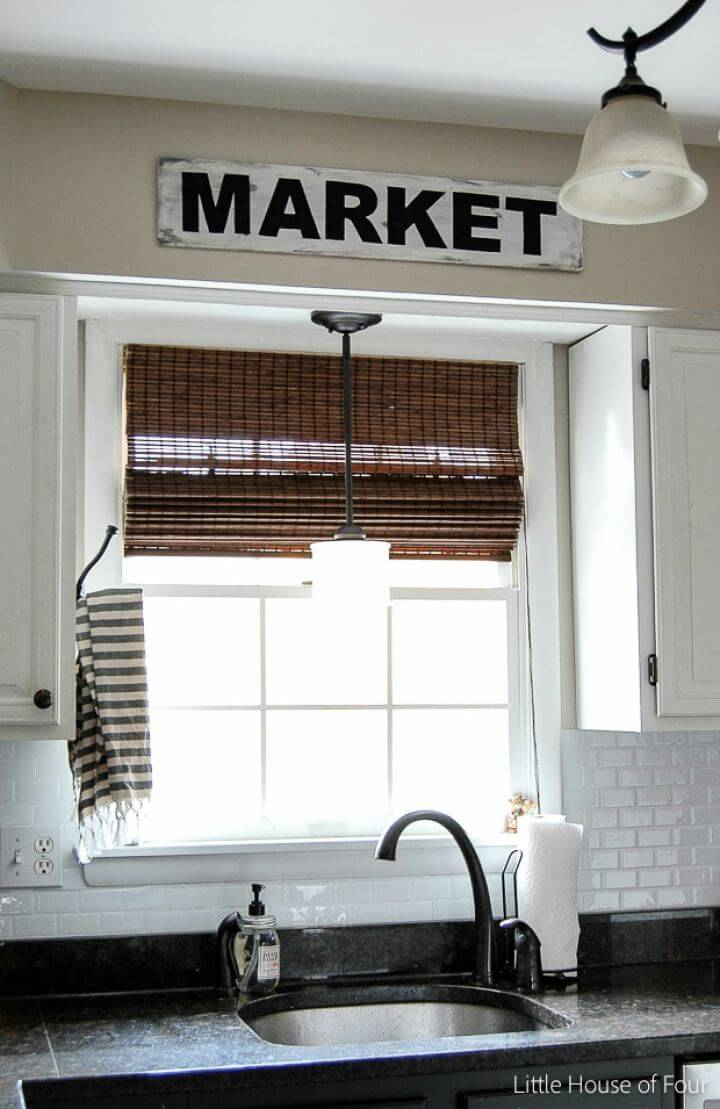 Easy And Affordable Farmhouse Sign, home decor, wooden projects, home projects,