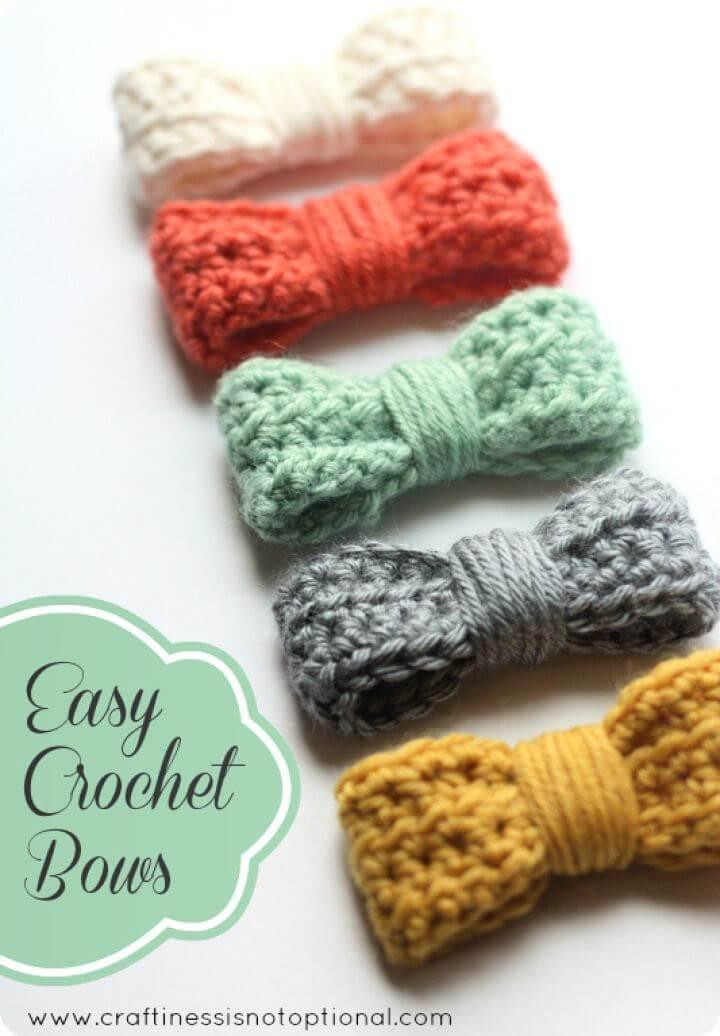 Easy Crochet Bow Tutorial
