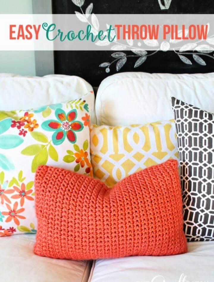Easy Crochet Throw Pillow For Beginners