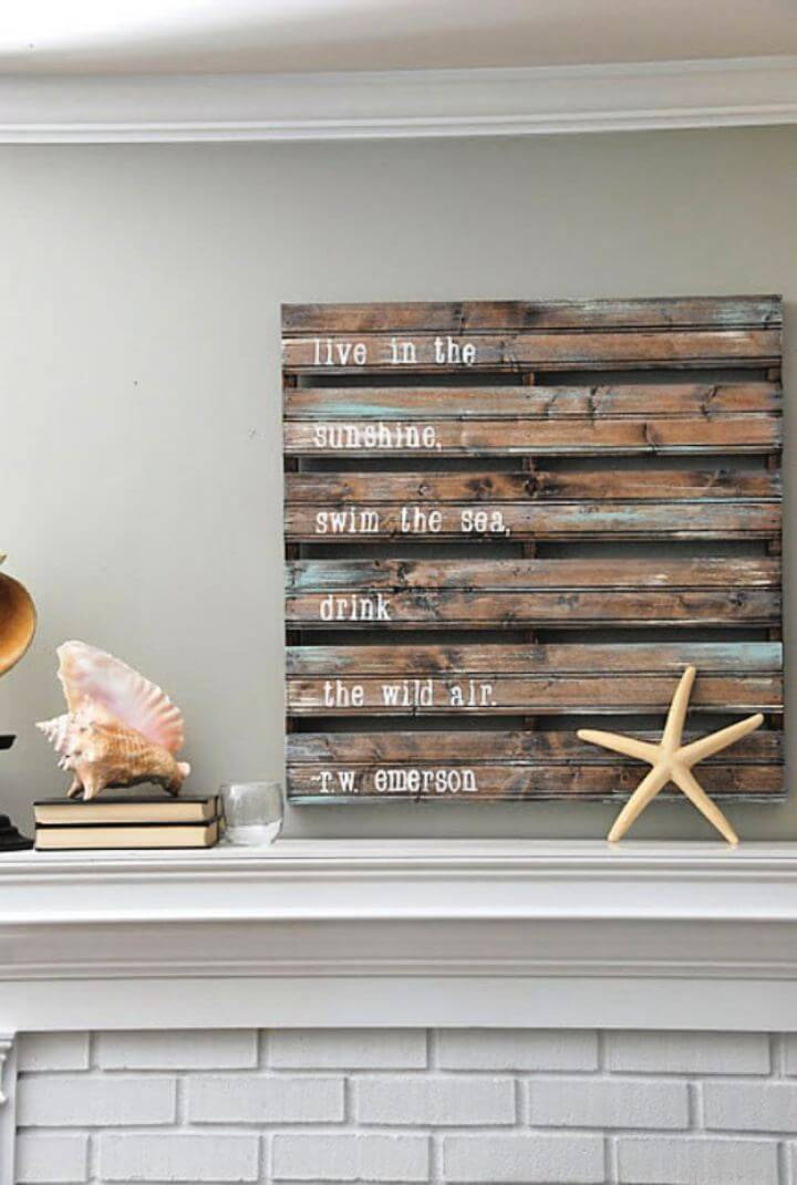 Easy DIY Acrylic Pallet Sign