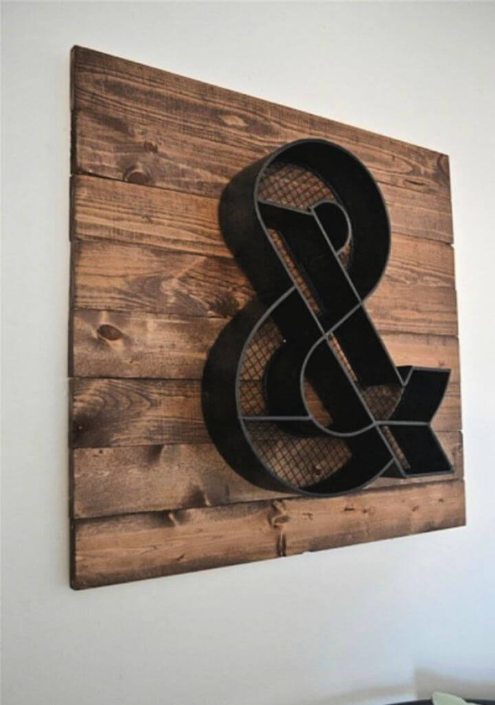 Easy DIY Ampersand Sign For Your Home, diy signs, home improvement,