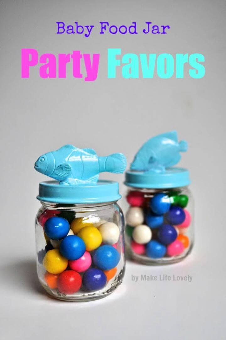 Easy DIY Baby Food Jars Party Favors