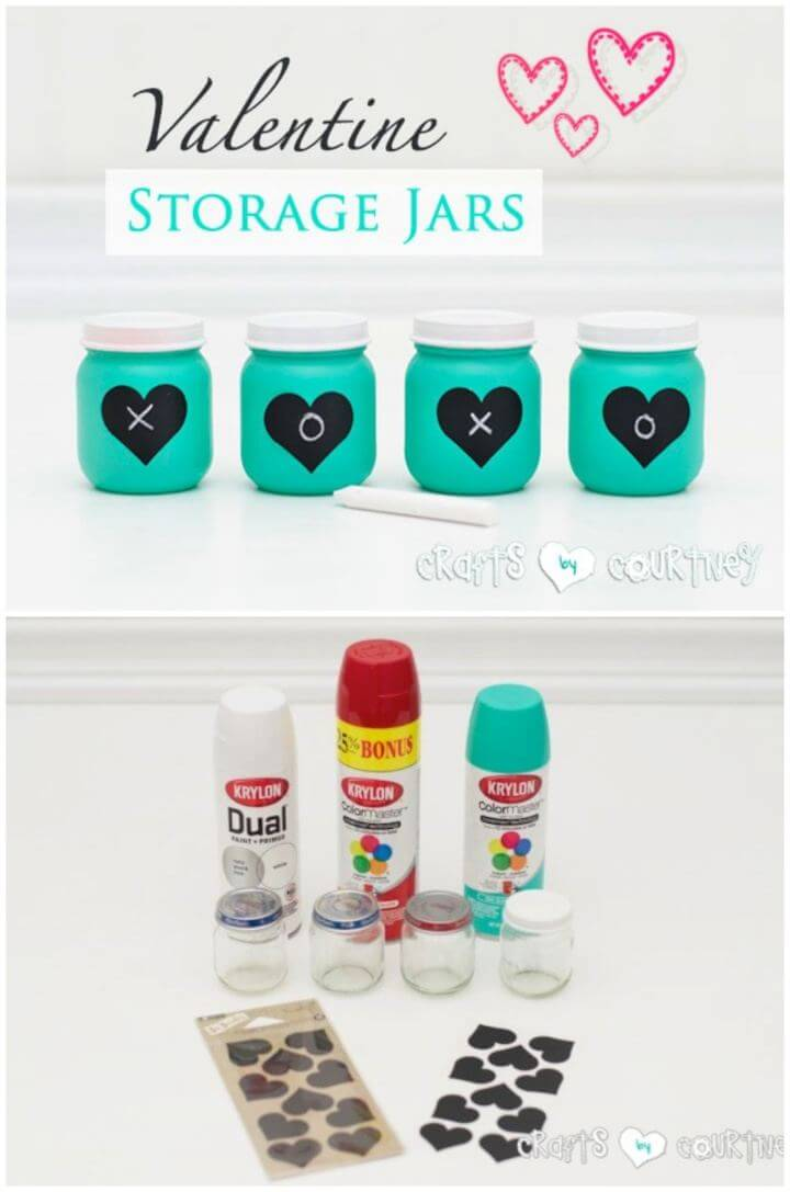 Easy DIY Baby Food Jars Turned Valentine Storage Decor