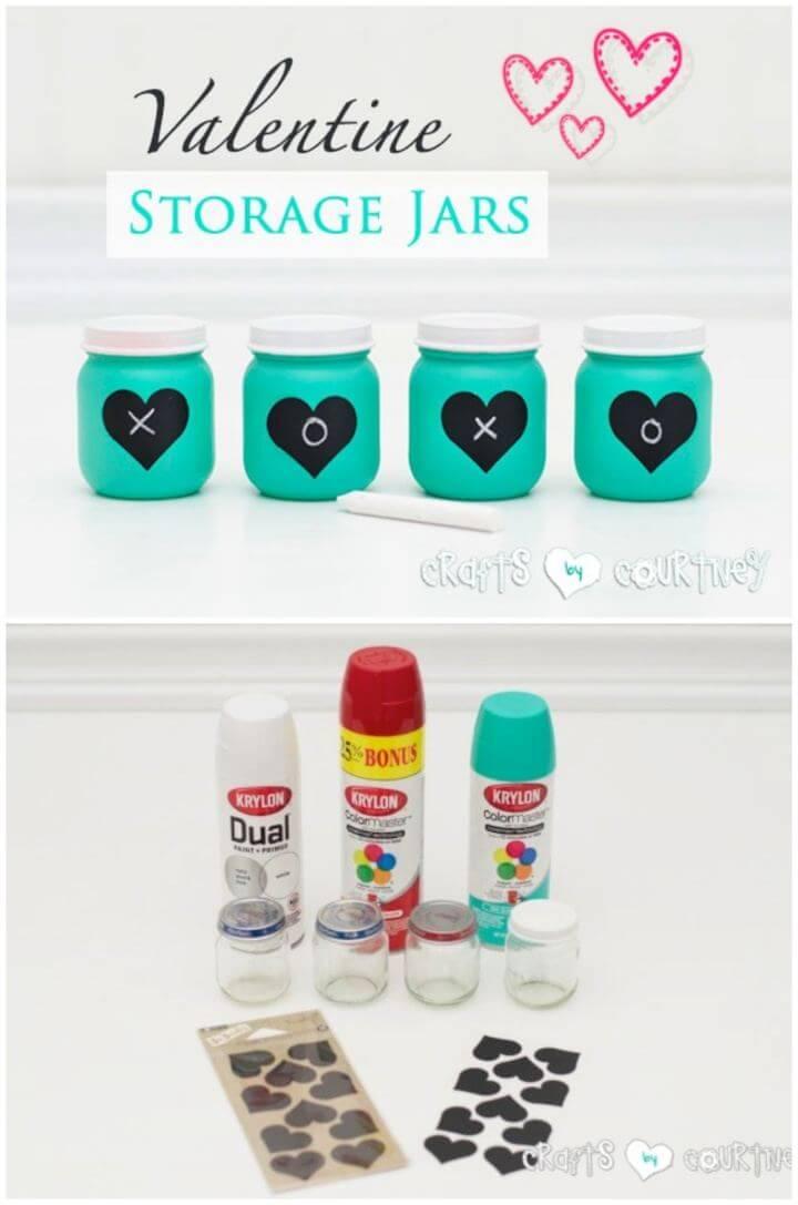 Easy DIY Baby Food Jars Turned Valentine Storage Decor