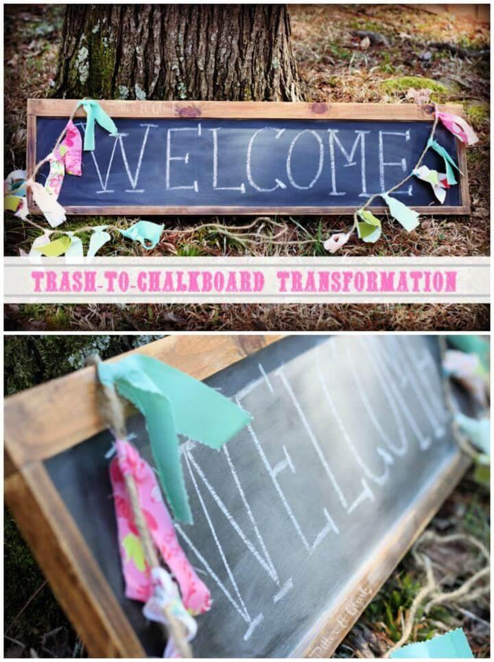 Easy DIY Chalkboard Transformation