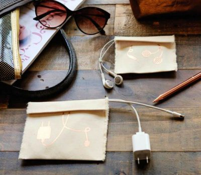 Easy DIY Charger And Earbud Cases Gift For Him