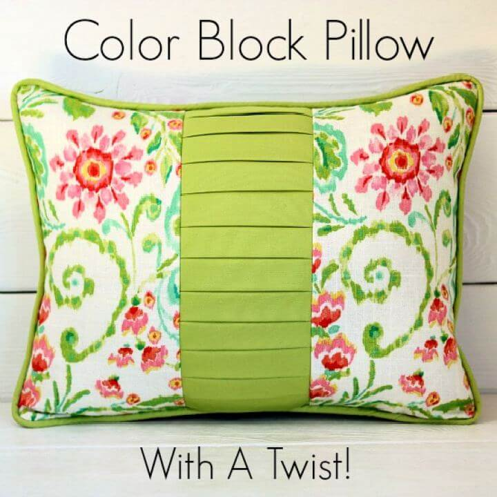 Easy DIY Color Block Pillow For Home Decor