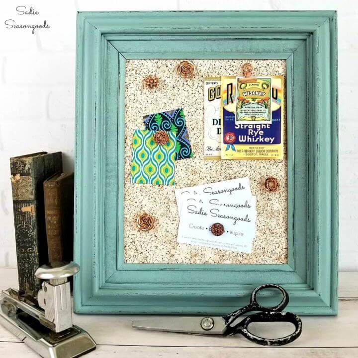 Easy DIY Cork Board in a Thrifted Picture Frame