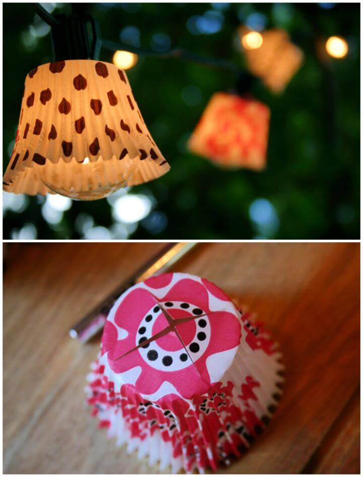 Easy DIY Cupcake Outdoor Lights Are Sweet