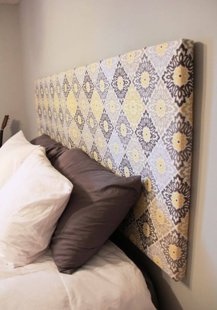 Easy DIY Fabric Headboard