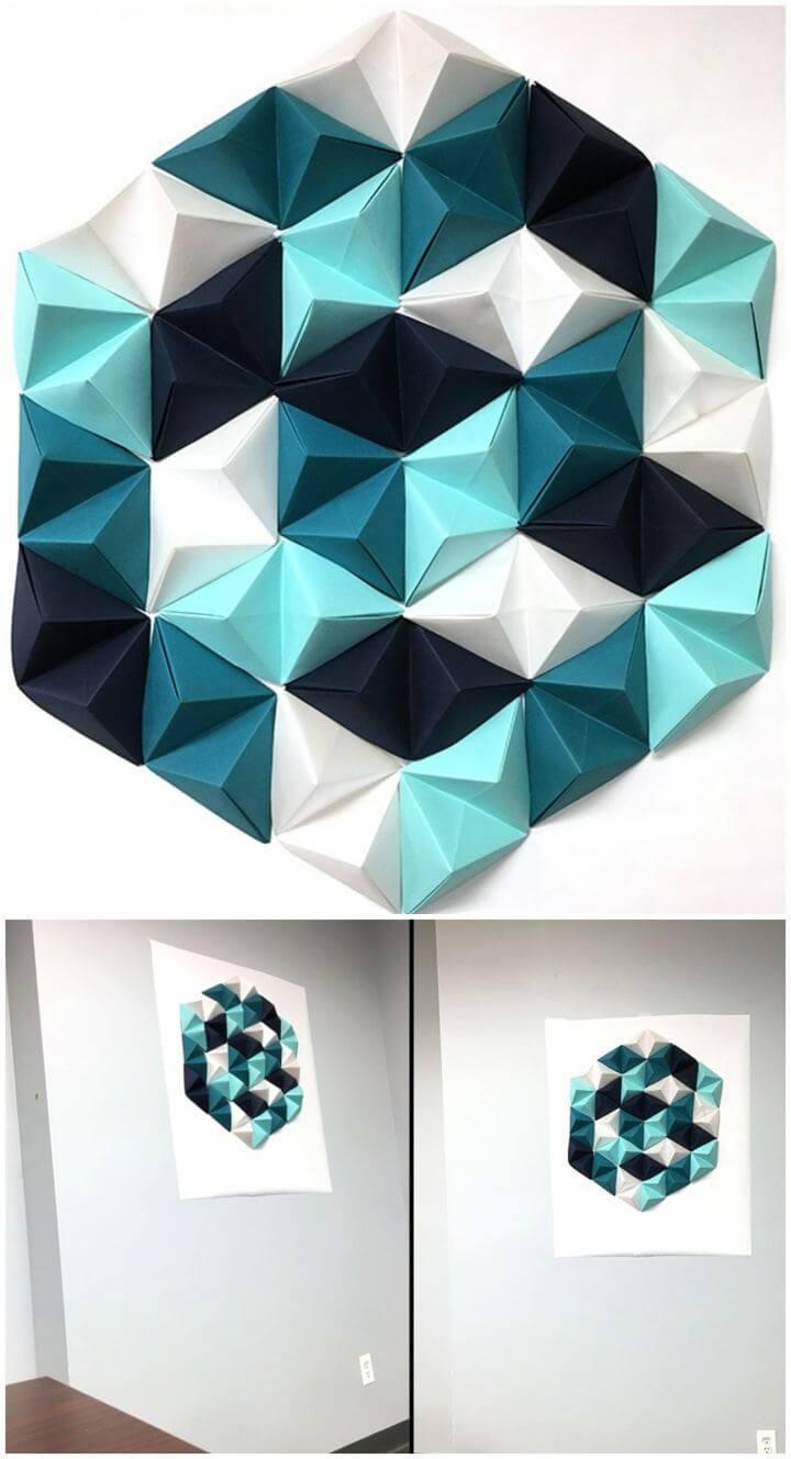 Easy DIY Geometric Paper Wall Art