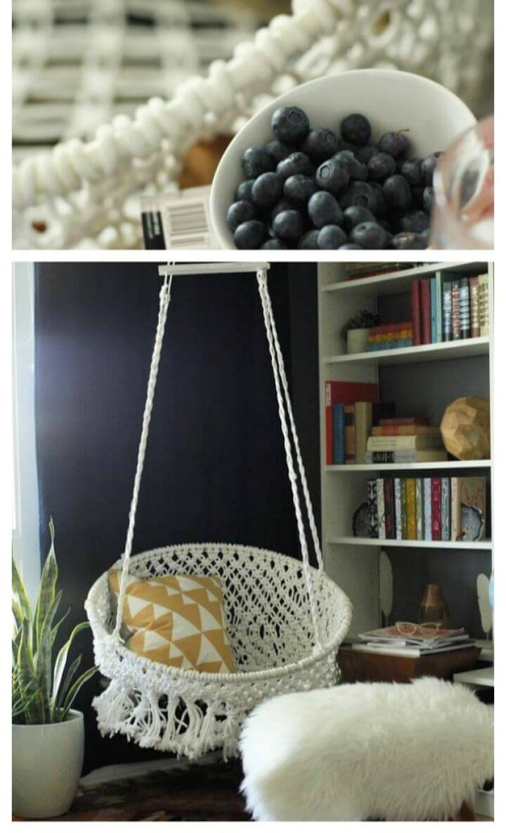 Easy DIY Hanging Macramé Chair