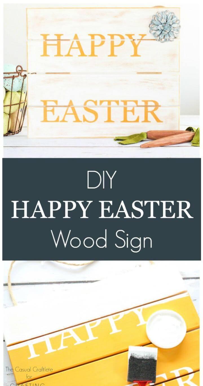 Easy DIY Happy Easter Wood Pallet Sign