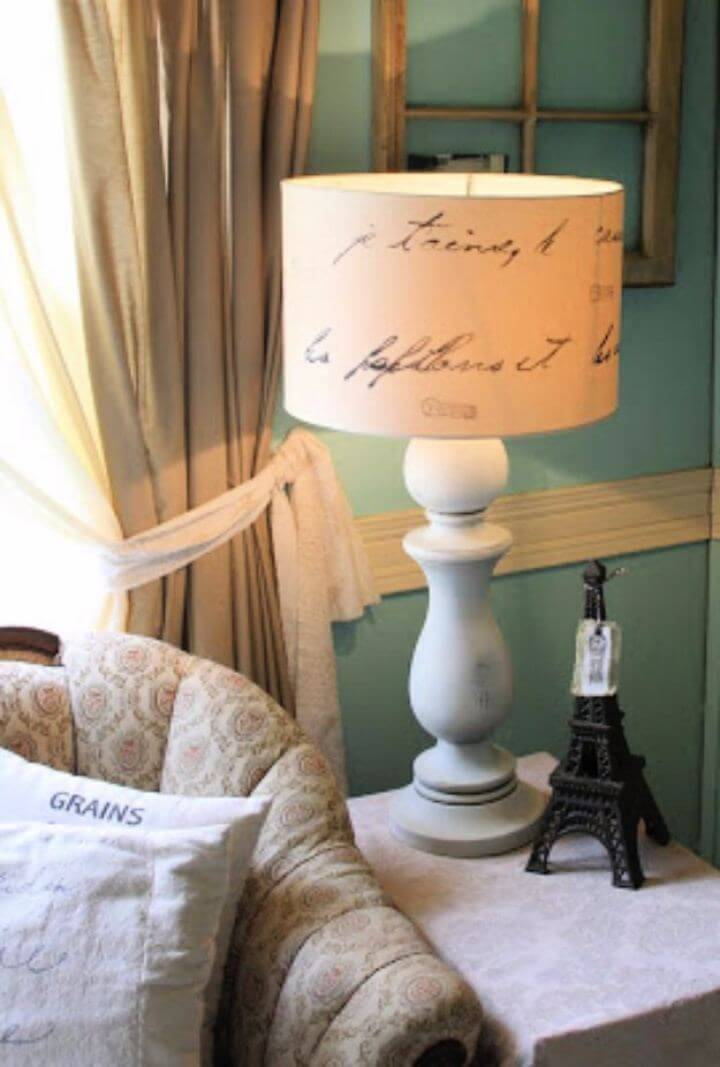Easy DIY Love Letter Lamp For Living Room