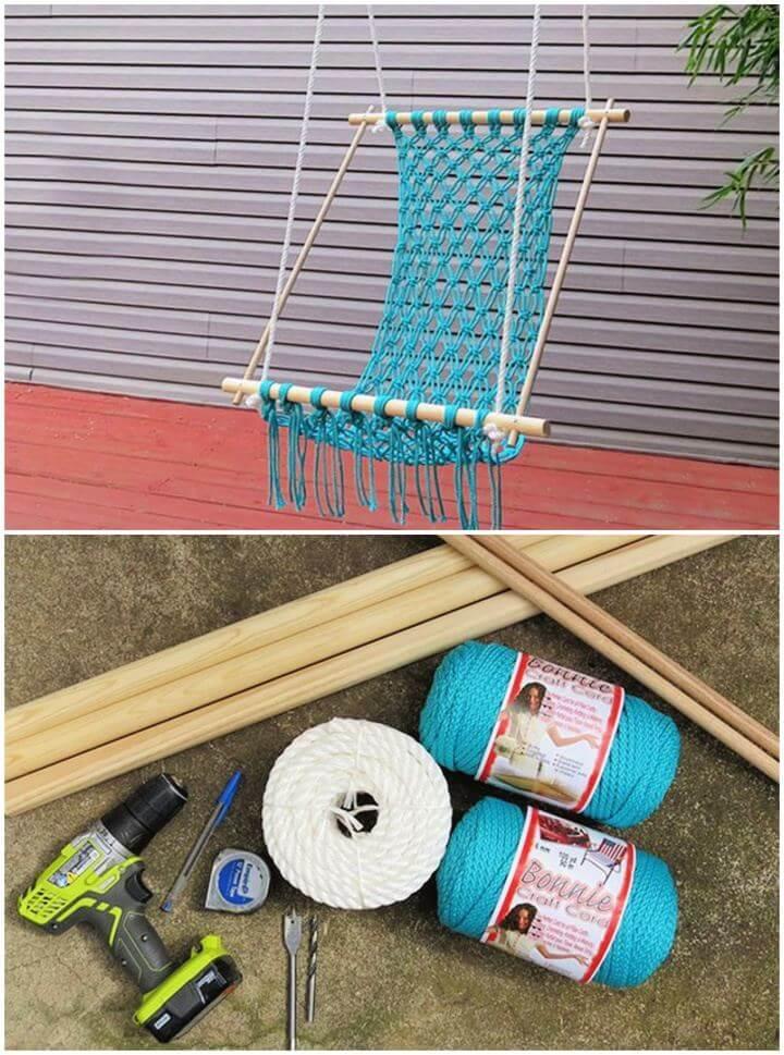 Easy DIY Macrame Hammock