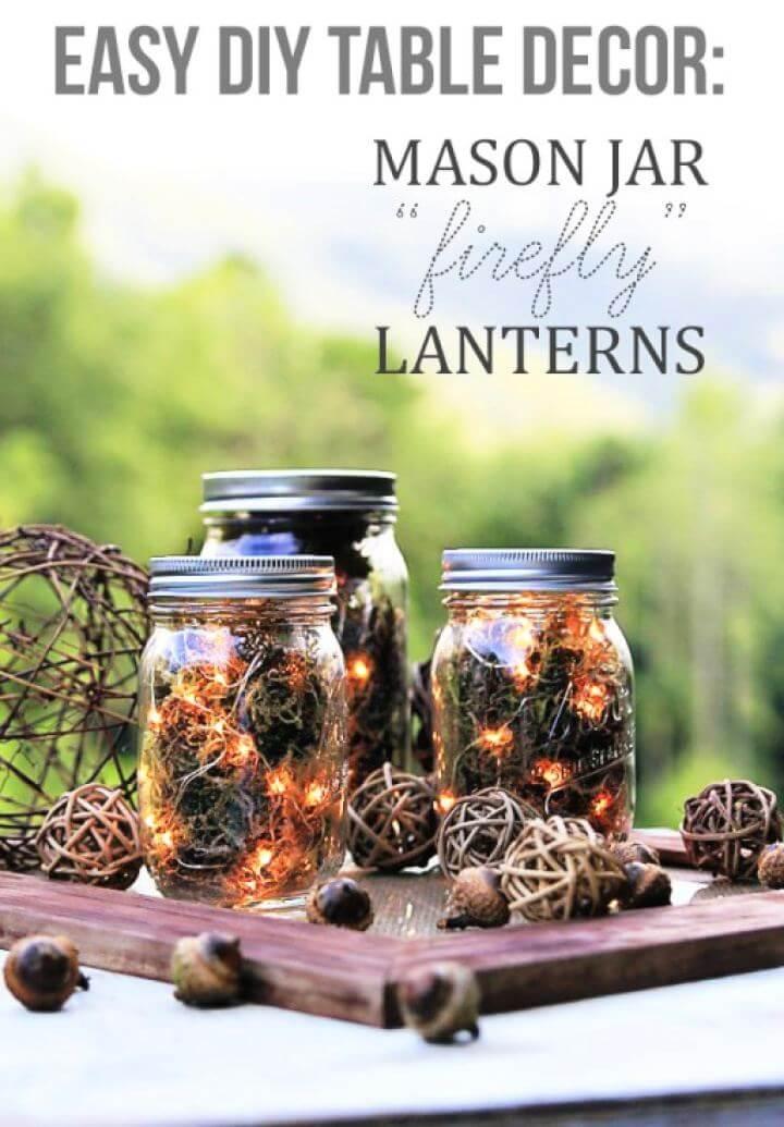 Easy DIY Mason Jar Firefly Lanterns