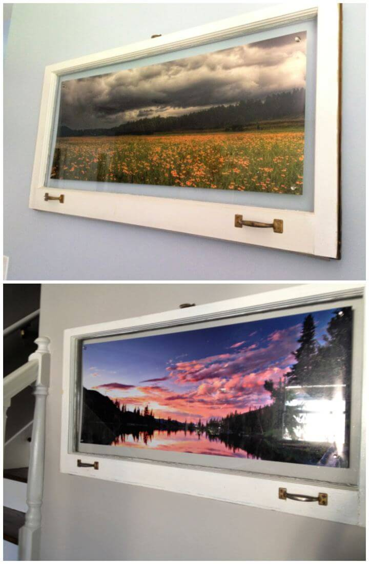 Easy DIY Old Windows Into Rustic Picture Frames