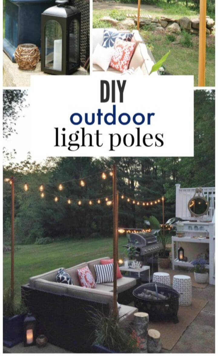 Easy DIY Outdoor Light Poles