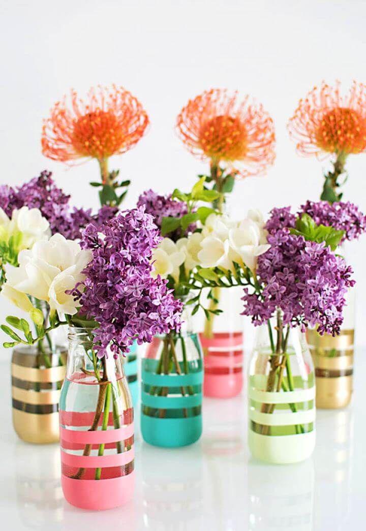 Easy DIY Painted Bottles Tutorial