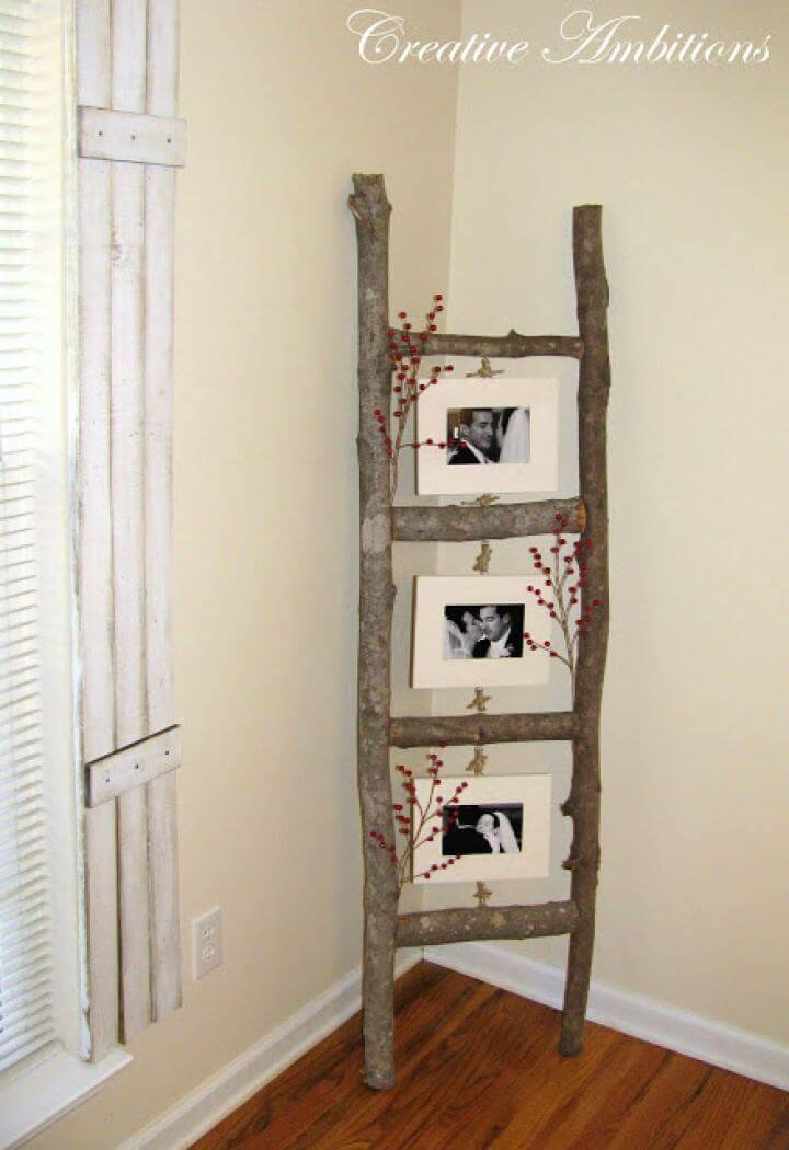 Easy DIY Rustic Photo Ladder Tutorial