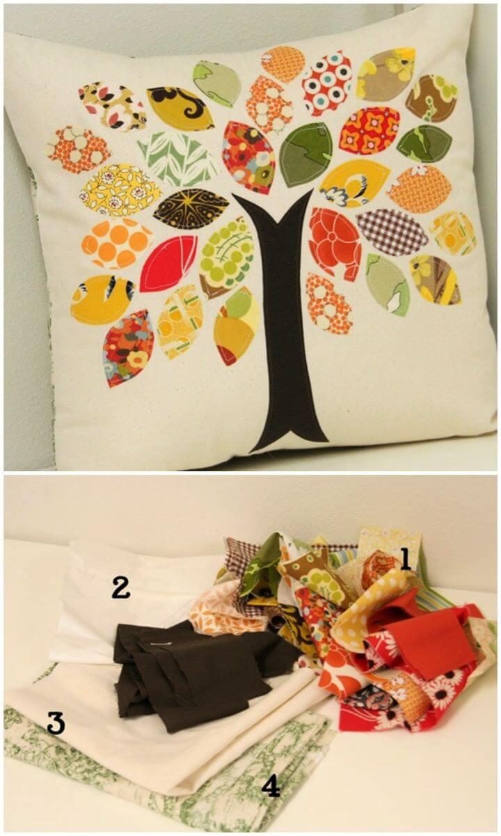 Easy DIY Scrap Buster Fall Pillow