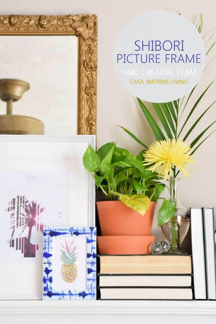Easy DIY Shibori Picture Frame