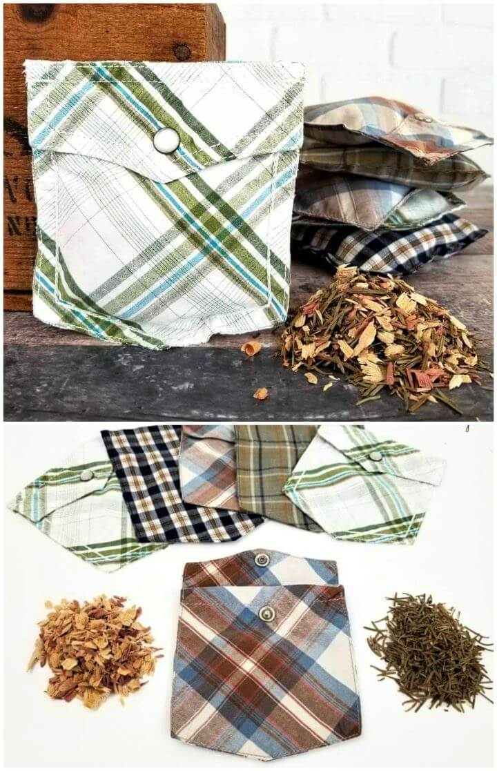 Easy DIY Shirt Pocket Sachets For Him