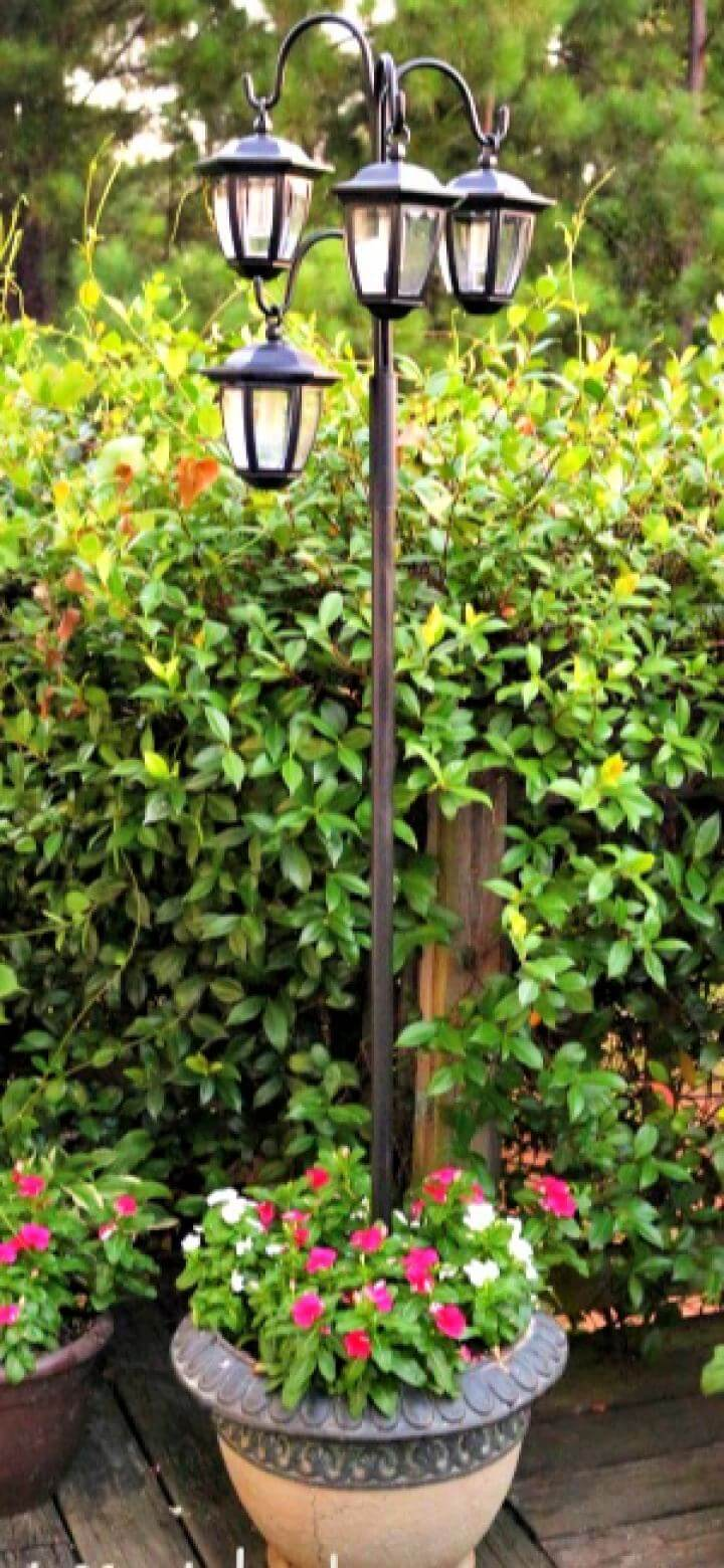 Easy DIY Solar Lights Lamp Post