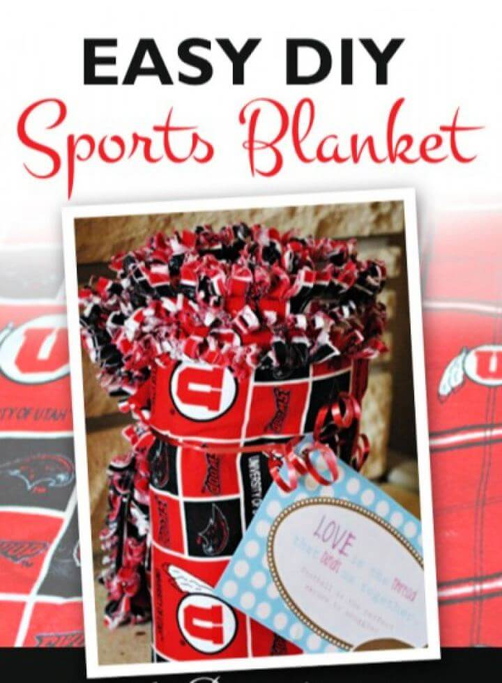 Easy DIY Sports Blanket For Him