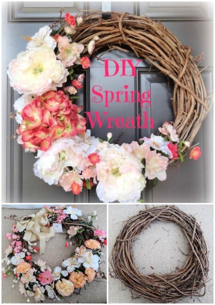 Easy DIY Spring Wreath Tutorial