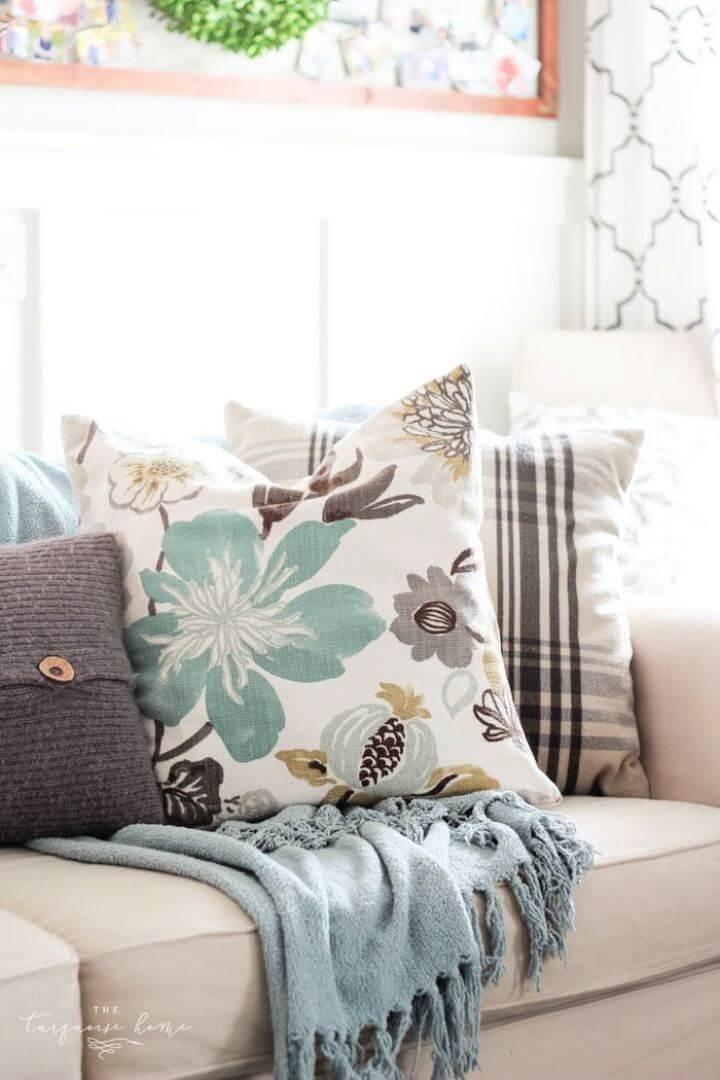 Easy DIY Throw Pillow For Home Decor Tutorial