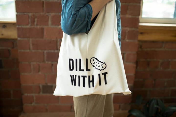 tote crafts, diy tote bag