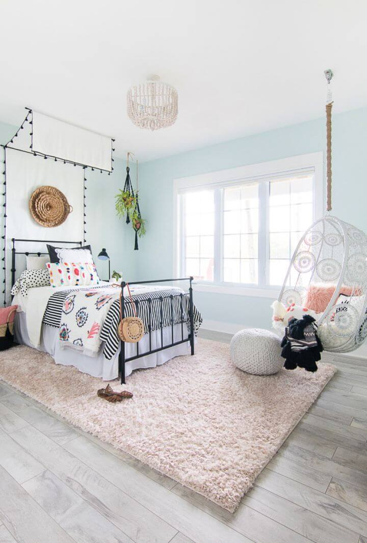 Easy DIY Tween Girl Beachy Boho Bedroom