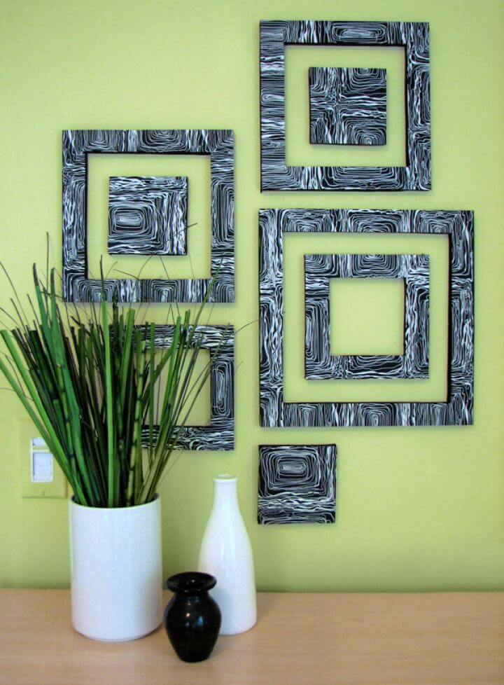 Easy DIY Wall Art Patterned Squares